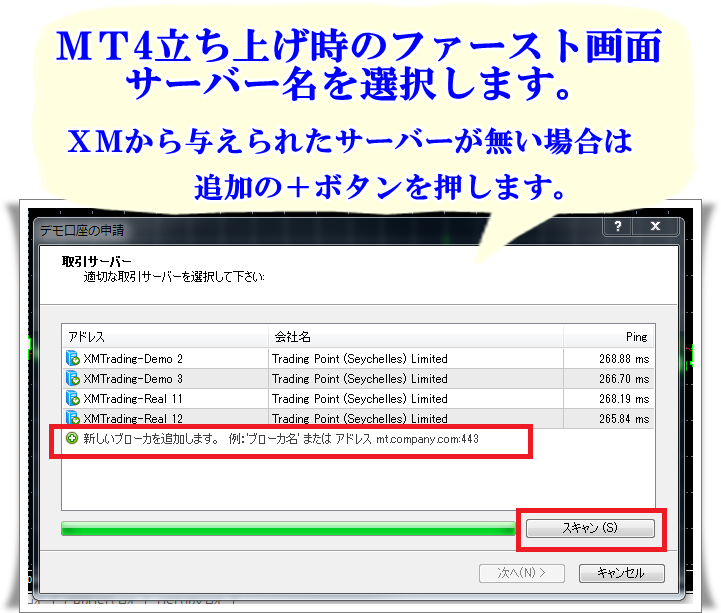 MT4ログインページ